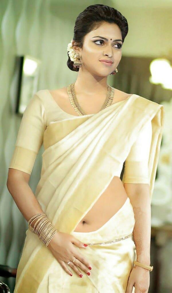 amala paul sexy navel saree - Kerala born actresses wins Tamilnadu State Film Awards