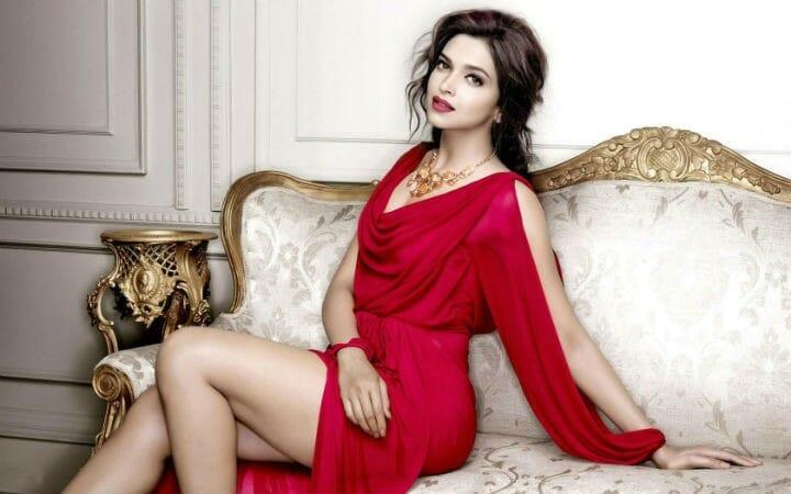 Deepika Padukone Sexy Red