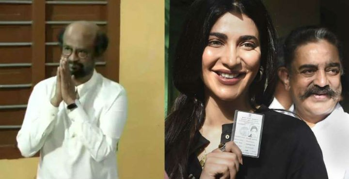 Kollywood Voting on Election Day - Kollywood stars join Oru Viral Puratchi by casting their vote