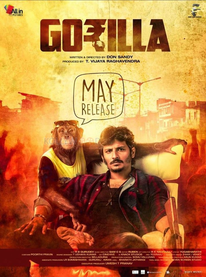 Gorilla movie - Jiiva's Gorilla to clash with another animal based film