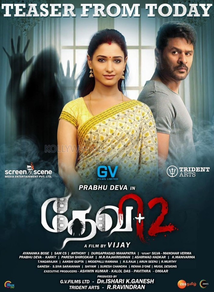 Devi 2 Movie Poster - Prabhu Deva and Tamanna