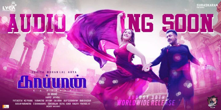 Kaappaan audio launch poster