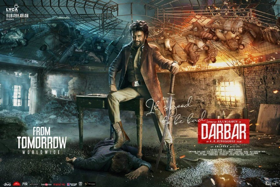 darbar poster - Darbar Movie Review