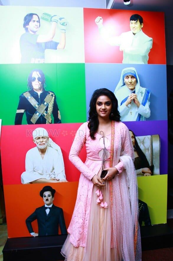 Actress Keerthi Suresh At Live Art Museum Photos