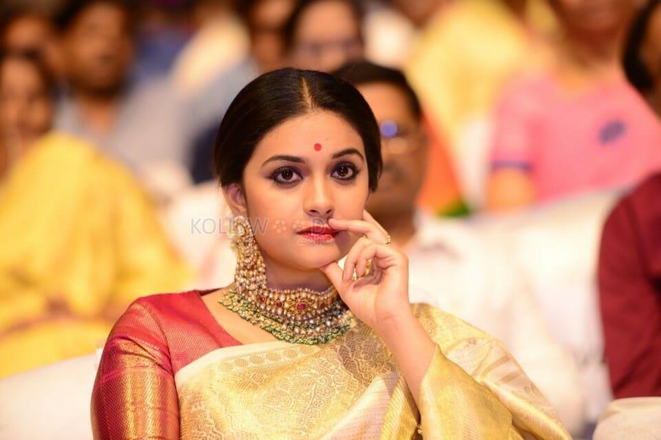 Actress Keerthi Suresh At Nadigaiyar Thilagam Event Photos