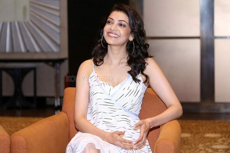 Indian Actress Kajal Aggarwal Interview Photos
