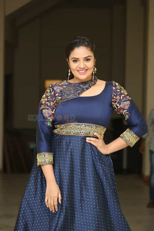 Actress Sreemukhi At Diksoochi Audio Launch Pictures