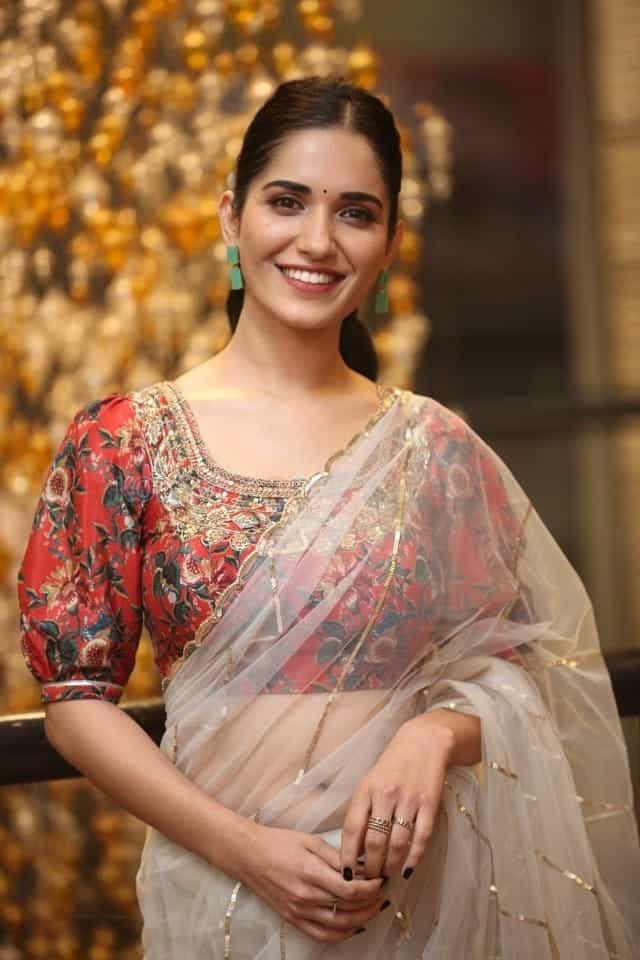 Actress Ruhani Sharma at Nootokka Jillala Andagadu Pre Release Event Photos 03